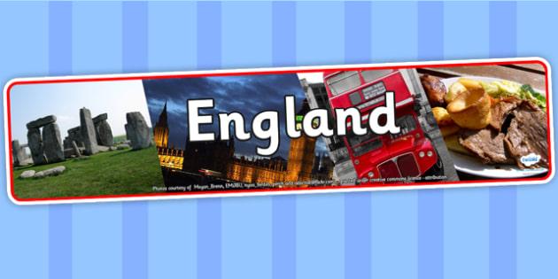 England Photo Display Banner - England, Display Banner, Banner, England Display Banner, England Banner, Themed Banner, Photo Banner
