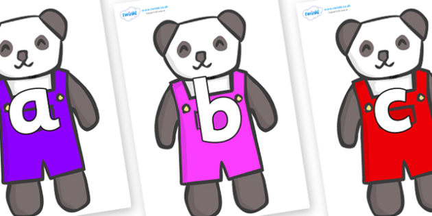 Phoneme Set on Panda Bears - Phoneme set, phonemes, phoneme, Letters and Sounds, DfES, display, Phase 1, Phase 2, Phase 3, Phase 5, Foundation, Literacy