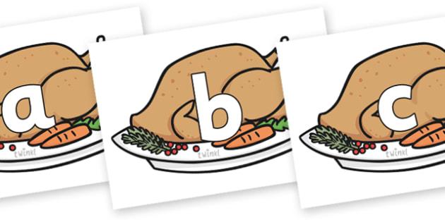 Phoneme Set on Christmas Turkeys - Phoneme set, phonemes, phoneme, Letters and Sounds, DfES, display, Phase 1, Phase 2, Phase 3, Phase 5, Foundation, Literacy