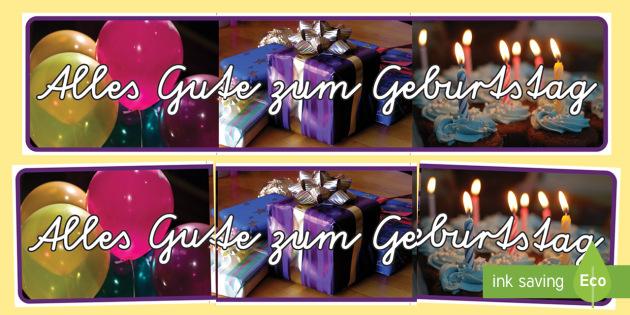 Alles Gute Zum Geburtstag Banner Fur Die Klassenraumgestaltung