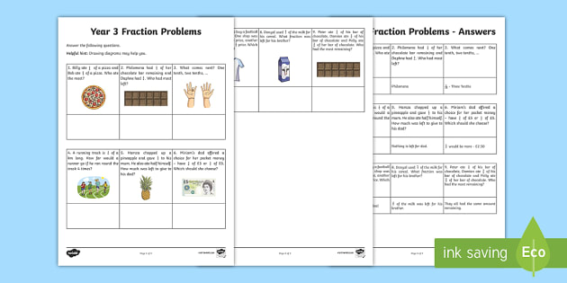year  fraction problems worksheet  worksheet  learning from home  year  fraction problems worksheet  worksheet  learning from home maths  workbooks