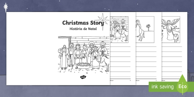 christmas story booklet english portuguese christmas story