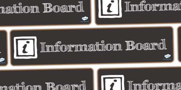 Information Board Display Banner - information board, display banner, banner, header, banner display, display header, header for display, classroom display