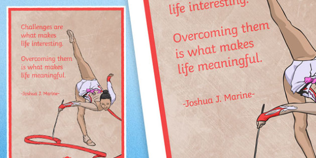 Challenges Are What Makes Life Interesting Motivational Poster