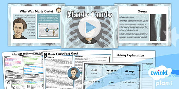 Science: Scientists and Inventors: Marie Curie Year 3 Lesson Pack 2