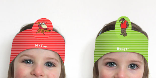 Role Play Headbands to Support Teaching on Fantastic Mr Fox - roleplay, props, stories