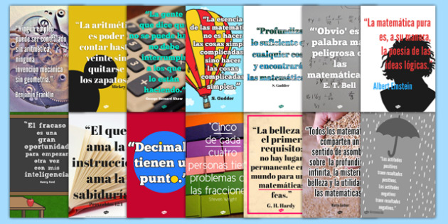 maths quote wall posters spanish spanish maths quotes famous