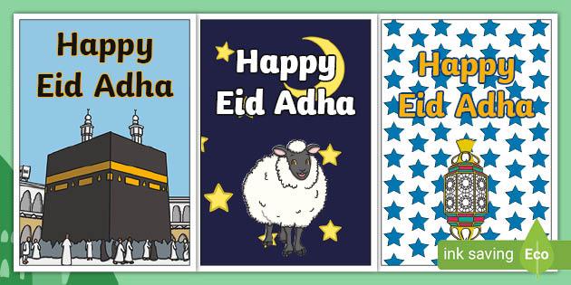 Free Eid Greeting Cards Eid Al Adha Celebration Twinkl