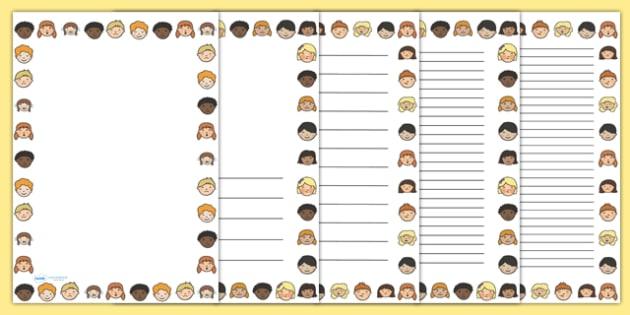 Emotions Portrait Page Borders - emotions, feelings, borders