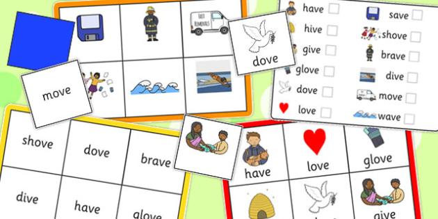 Final 'V' Sound Bingo - final v, sound, bingo, game, activity