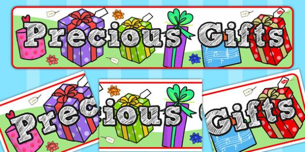 Precious Gifts Display Banner - display banner, display, banner