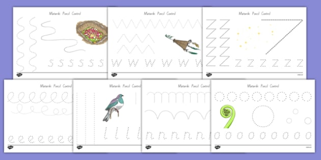 Matariki Themed Pencil Control Activity Sheets - nz, new zealand, matariki, pencil control, activity, worksheet