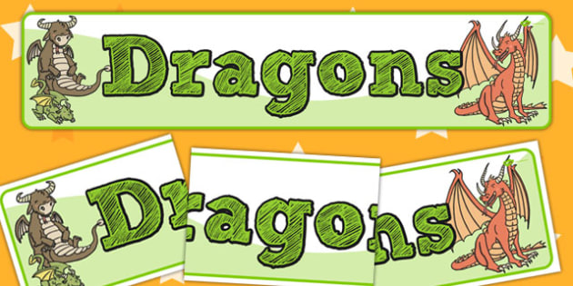 Dragons Display Banner - banners, displays, dragon, posters