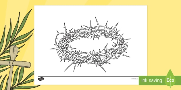 Crown Of Thorns Mindfulness Colouring Page