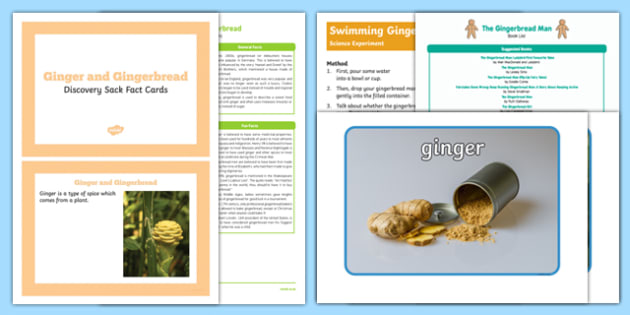 The Gingerbread Man Discovery Sack - EYFS, Early Years, Key Stage 1, explore, learn, discover, fairytales, traditional stories
