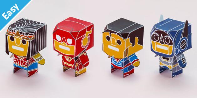 Enkl Dynamic Heroes Desk Buddy Characters Printable - enkl, dynamic heroes, desk buddy, characters, printable