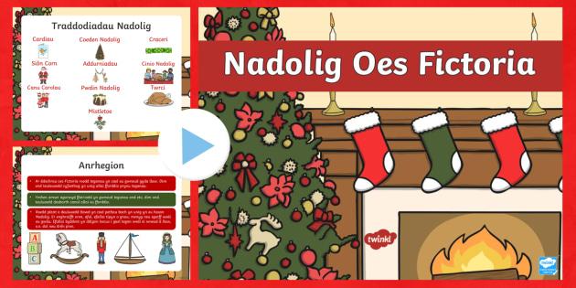 Pŵerbwynt Nadolig Oes Fictoria - nadolig, ndolig, Oes Fictoria,Welsh, Christmas
