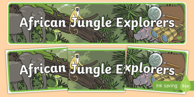African Jungle Explorers Role Play Display Banner
