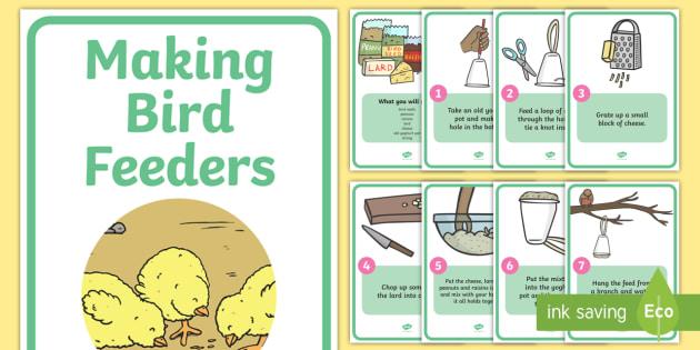 How to Make Bird Feeders - Bird Feeder, birds, making a bird feeder, activity, aid, winter, feeding, help, robin, robins