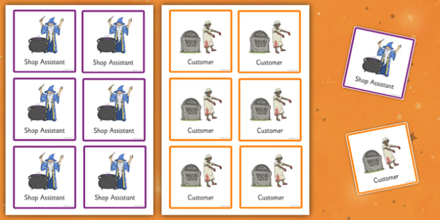 Halloween Fancy Dress Shop Role Play Badges - halloween, fancy dress shop, role play, badges, role play badges, fancy dress shop role play, roleplay
