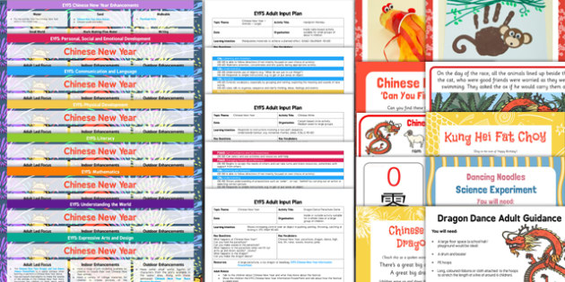 EYFS Chinese New Year Lesson Plan Enhancement Ideas and Resources Pack - pack, eyfs, chinese new year, lesson plan, planning
