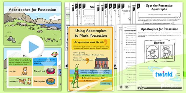 PlanIt Y2 SPaG Lesson Pack: Apostrophes for Possession - GPS, punctuation, apostrophes, possession, possessive apostrophe