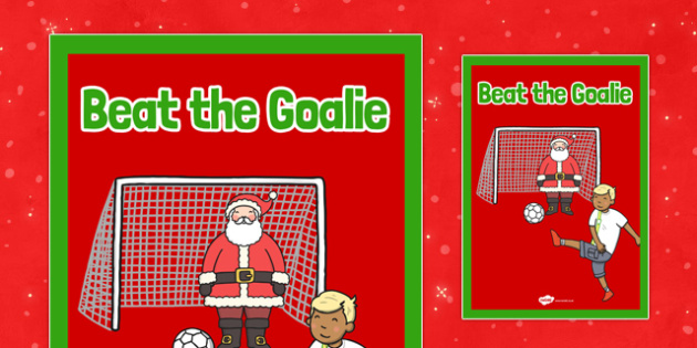 Christmas Themed Beat the Goalie Poster - christmas fair, display poster, display, poster, beat the goalie