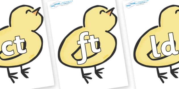 Final Letter Blends on Chicks - Final Letters, final letter, letter blend, letter blends, consonant, consonants, digraph, trigraph, literacy, alphabet, letters, foundation stage literacy