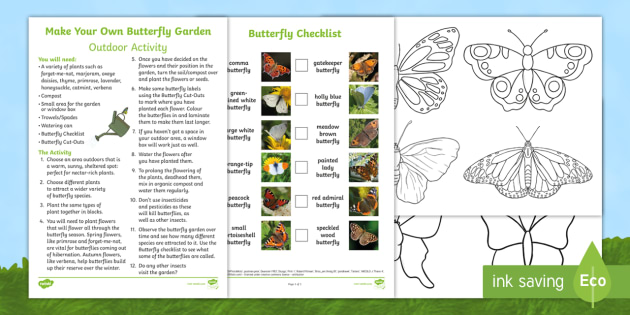 Make Your Own Butterfly Garden Outdoor Activity   Butterfly, Life Cycle,  Minibeasts, Creepy