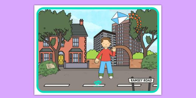 Flat Boy Editable Poster - flat stanley, flat boy, jeff brown, editable poster