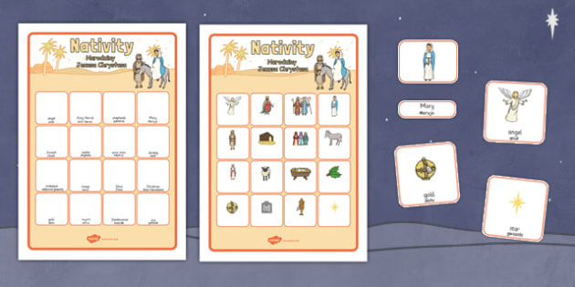 Nativity Vocabulary Matching Mat Polish Translation - polish, nativity, vocabulary, matching mat, christmas
