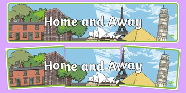 Home and Away Topic Banner - Home and away, topic banner, home and away display banner, topic display banner, home and away topic, display banner