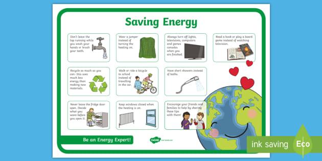 Saving Energy Poster