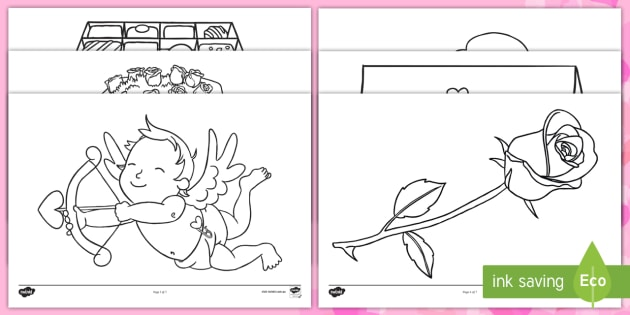valentine s day colouring pages valentines colour love