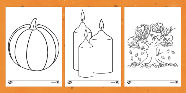 Samhain Colouring Pages
