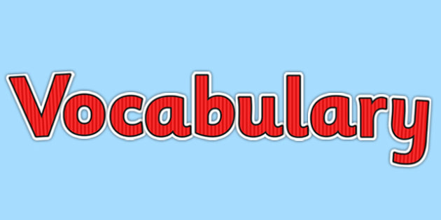 Vocabulary Display Lettering Red - vocabulary, display lettering, vcop, display, lettering, red
