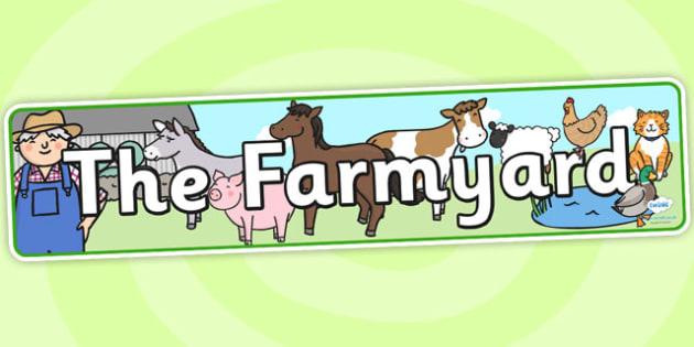Farmyard Display Banner - farmyard, farm, banner, role play