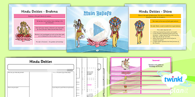 RE: Hinduism: Main Beliefs Year 3 Lesson Pack 2