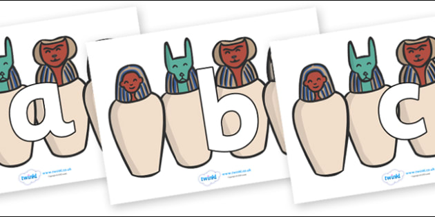 Phoneme Set on Egyptian Jars - Phoneme set, phonemes, phoneme, Letters and Sounds, DfES, display, Phase 1, Phase 2, Phase 3, Phase 5, Foundation, Literacy
