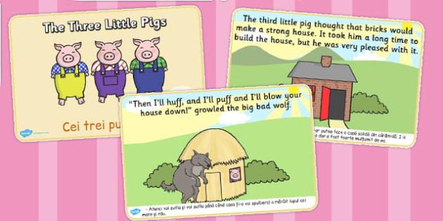 The Three Little Pigs Story Romanian Translation - romanian