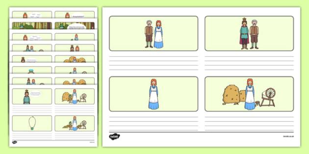 Rumpelstiltskin Storyboard Template - rumpelstiltskin, storyboard, template