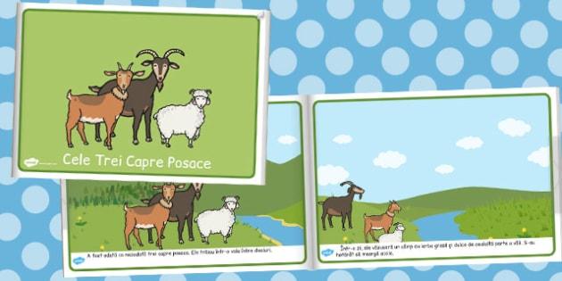 Cele trei capre posace - Carte electronică - cele trei capre posace, poveste, planșe, carte, electronică, imagini, cuvinte, materiale, materiale didactice, română, romana, material, material didactic