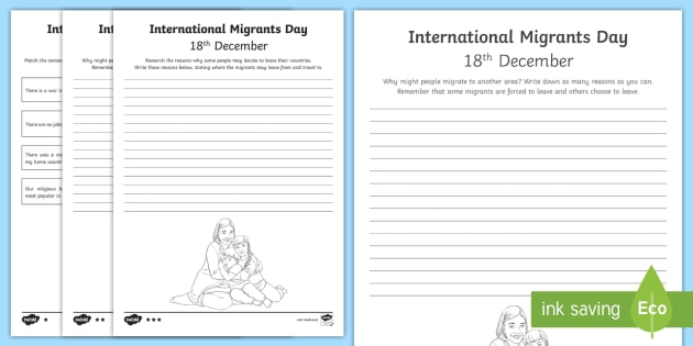 international migrants day differentiated worksheet activity. Black Bedroom Furniture Sets. Home Design Ideas