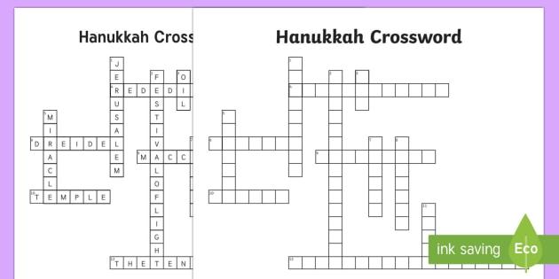 Ks2 Hanukkah Crossword Hanukkah Jew Judaism Celebration