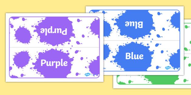 Editable Class Group Table Signs (Colour) - Class Group Table Signs, Colour, Colours, group signs, group labels, group table signs, table sign, teaching groups, class group, class groups, table label