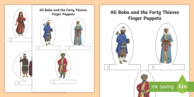 New ali baba and the forty thieves finger puppets uae new ali baba and the forty thieves finger puppets uae adec ccuart Images