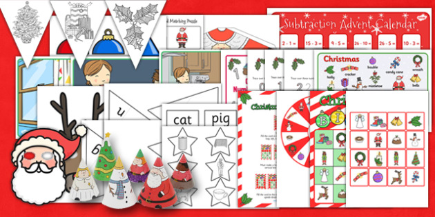 Christmas Activity Pack - K1 Christmas Activity Pack USA - k1, christmas, activity, pack, usa, america