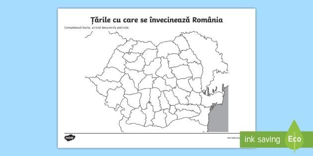 Vecinii României Fișă De Lucru România Geografie