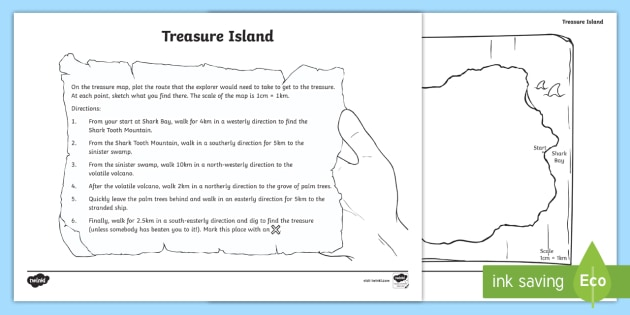 Treasure Island Worksheet