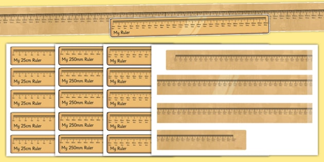 photograph regarding Centimetre Ruler Printable called Centimetres and Millimetres Rulers Slice Outs and Demonstrate Pack